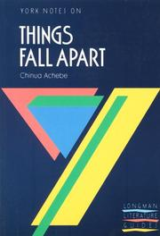 "Cover of: York Notes on Chinua Achebe's ""Things Fall Apart"" by T.A. Dunn"