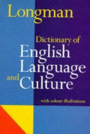 Cover of: Dic Longman of English Language and Culture by Ada L. Bishop