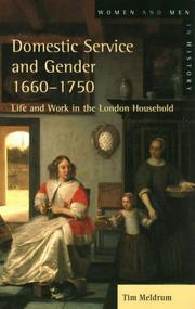 Cover of: Domestic Service and Gender, 1660-1750 | Timothy Meldrum