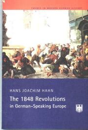 Cover of: The 1848/9 revolutions in German-speaking Europe | Hans J. Hahn