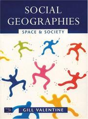 Cover of: Social Geographies by Gill Valentine