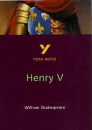 "Cover of: York Notes on Shakespeare's ""Henry V"" by David Langston"