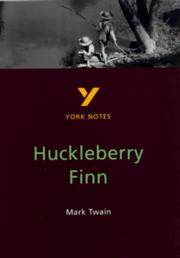 "Cover of: York Notes on Mark Twain's ""Huckleberry Finn"" by Brian Donnelly"