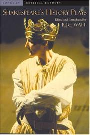 Cover of: Shakespeare's History Plays | R.J.C. Watt