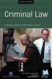 Cover of: Criminal Law by Catherine; Quinn, Frances Elliott