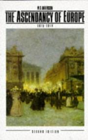 Cover of: Acendancy Europe 1815-1914 by M. S. Anderson