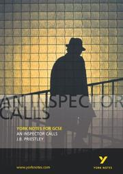 "Cover of: York Notes on ""An Inspector Calls"" by John Scicluna"