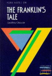 "Cover of: Geoffrey Chaucer, ""Franklin's Tale"" 