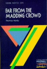 "Cover of: Thomas Hardy, ""Far from the Madding Crowd"" 