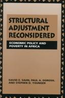 Cover of: Structural adjustment reconsidered by David E. Sahn