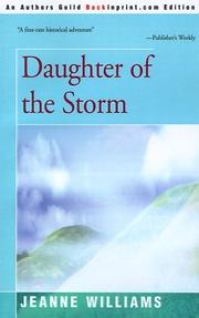 Cover of: Daughter of the storm by Jeanne Williams