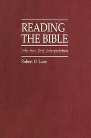 Cover of: Reading The Bible by Robert D. Lane