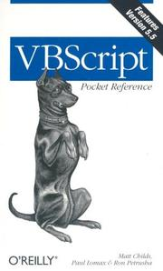 Cover of: VBScript pocket reference | Matt Childs