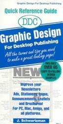 Cover of: DDC graphic design for desktop publishing by J. Schwartzman