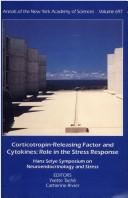 Cover of: Corticotropin-releasing factor and cytokines | Hans Selye Symposium on Neuroendocrinology and Stress (3rd 1992 Montréal, Québec)