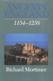 Cover of: Angevin England by Richard Mortimer