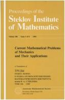 Cover of: Current mathematical problems of mechanics and their applications |
