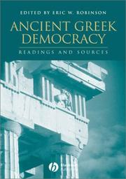Cover of: Ancient Greek Democracy by Eric W. Robinson