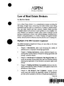 Cover of: Law of real estate brokers | D. Barlow Burke