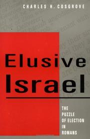 Cover of: Elusive Israel by Charles H. Cosgrove