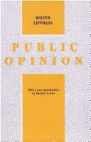 Cover of: Public opinion by Walter Lippmann