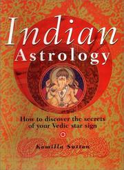 Cover of: Indian astrology | Komilla Sutton