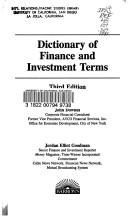 Cover of: Dictionary of finance and investment terms | Downes, John, John Downes