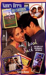 Cover of: Don't Look Back (Nancy Drew on Campus 3) by Carolyn Keene