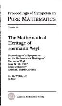 The mathematical heritage of Hermann Weyl [electronic resource]