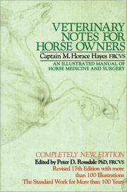 Cover of: Veterinary Notes For Horse Owners | Daniel Hayes