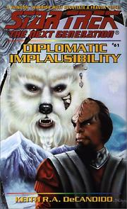 Cover of: Diplomatic Implausibility by Keith R.A. DeCandido