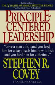 Cover of: Principle-Centered Leadership | Stephen R. Covey