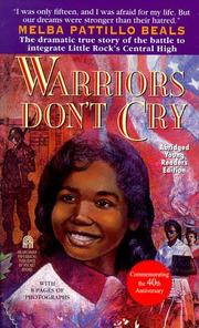Cover of: Warriors don't cry by Melba Beals