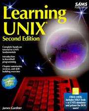 Cover of: Learning UNIX by Gardner, James