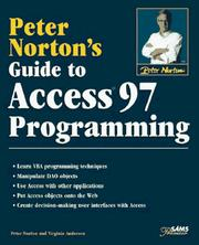 Cover of: Peter Norton's Guide to Access 97 Programming (Peter Norton) | Peter Norton