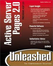 Cover of: Active Server Pages 2.0 unleashed | Stephen Walther, Steve Banick