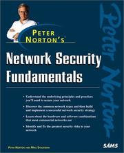 Cover of: Peter Norton's Network Security Fundamentals by Peter Norton