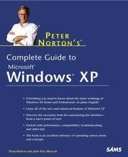 Cover of: Peter Norton's Complete Guide to Windows XP | Peter Norton