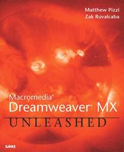 Cover of: Macromedia Dreamweaver MX Unleashed by Thomas Myer