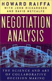 Cover of: Negotiation Analysis | Howard Raiffa