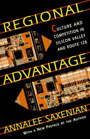 Cover of: Regional advantage by AnnaLee Saxenian