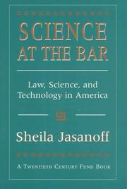 Cover of: Science at the Bar by Sheila Jasanoff