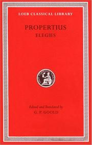 Cover of: Propertius, Elegies by Sextus Propertius