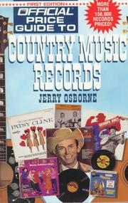 Cover of: Official Price Guide to Country Music Records | Jerry Osborne
