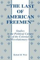 "Cover of: ""The  last of American freemen"" 