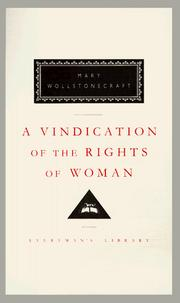Cover of: A vindication of the rights of woman by Mary Wollstonecraft