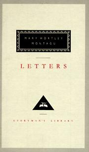 Cover of: Letters | Mary Wortley Montagu