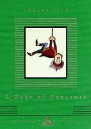 Cover of: A book of nonsense | Lear, Edward