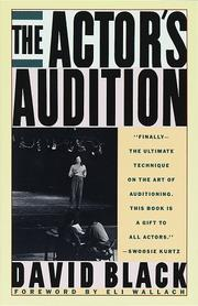 Cover of: The actor's audition | Black, David