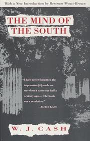 Cover of: The mind of the South by W. J. Cash